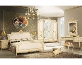 dormitor regal crem patinat