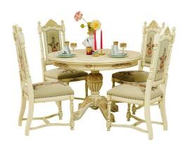 masa cu scaune regal crem