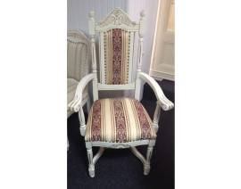 scaun regal cu brate crem